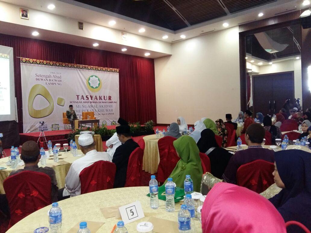 Dewan Dakwah Lampung Launching 10 Ribu Guru Mengaji dalam Gelaran Tasyakuran