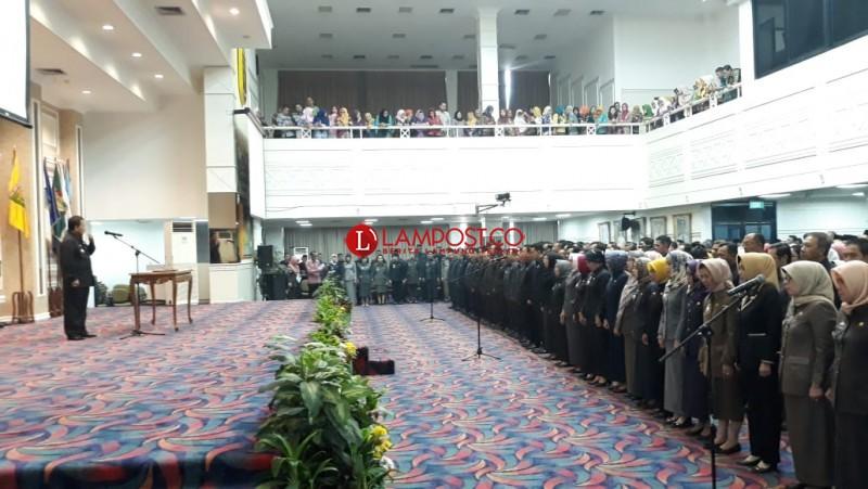587 Pejabat Pemprov Lampung Dirombak