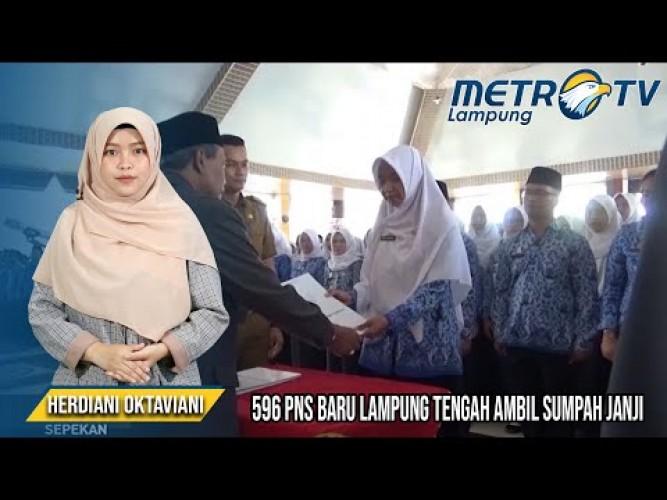 596 PNS Baru Lampung Tengah Ambil Sumpah Janji