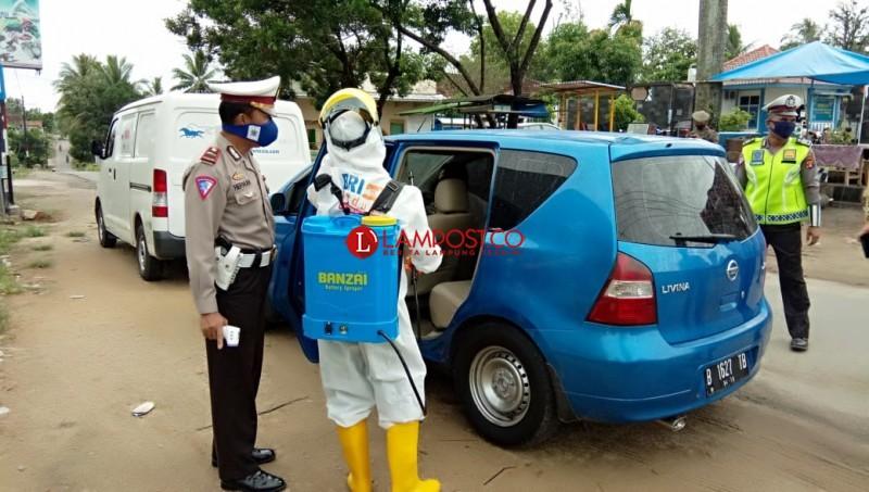 6 Kendaraan Pemudik Dipaksa Putar Balik Setiba di Pringsewu