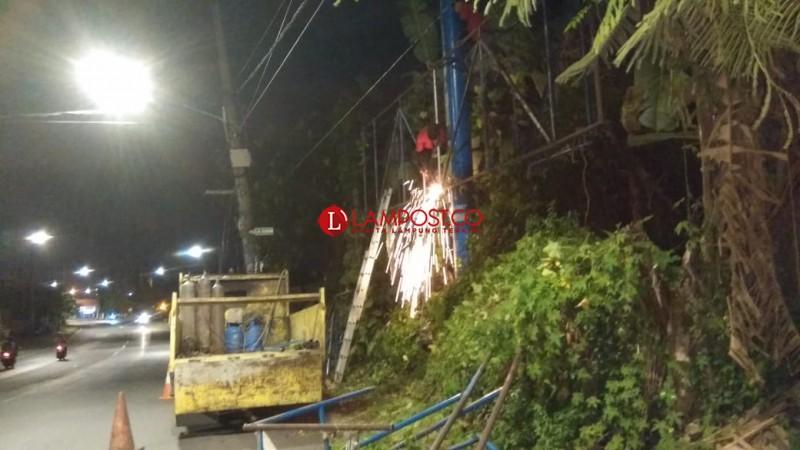 60 Reklame Tidak Berizin Telah Dipotong Pemkot Bandar Lampung