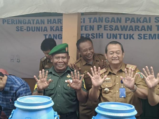 600 Siswa Pesawaran Rayakan Hari Cuci Tangan Pakai Sabun