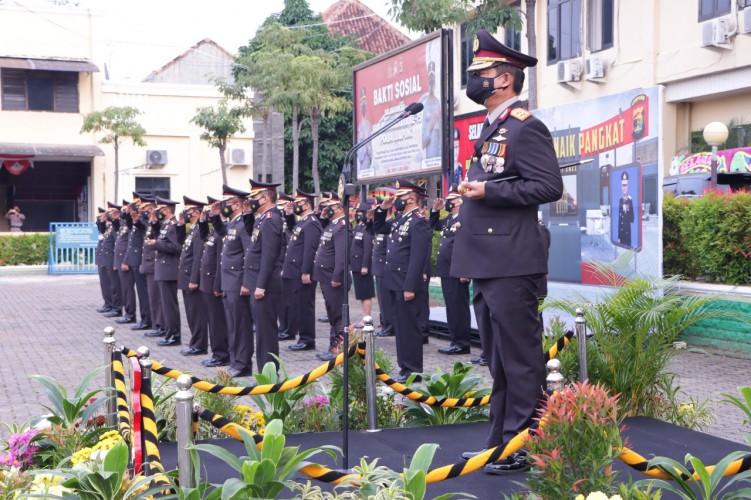 656 Personel Polda Lampung Naik Pangkat