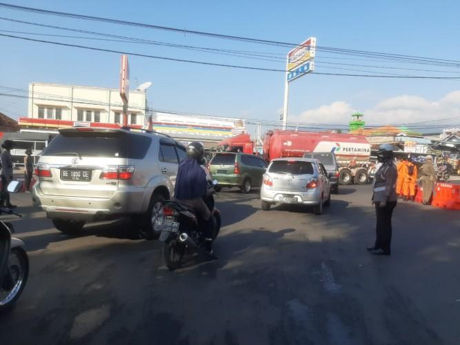 659 Kendaraan Dilarang Masuk Bandar Lampung selama PPKM