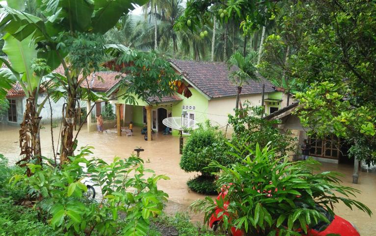 Banjir Setinggi 40 Cm Rendam Punduh Pidada dan Marga Punduh
