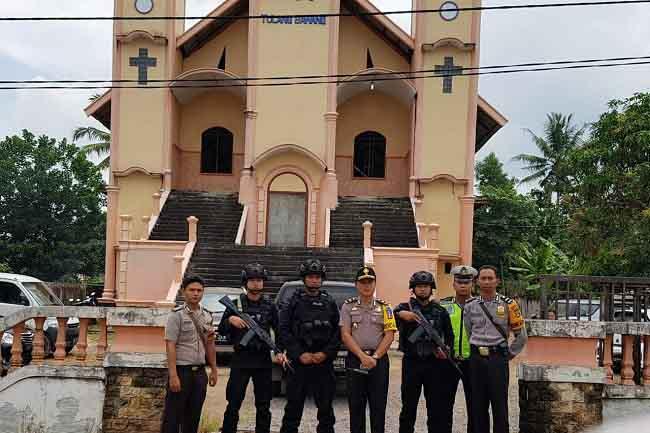 Polres Tuba Tingkatkan Pengamanan Rumah Ibadah