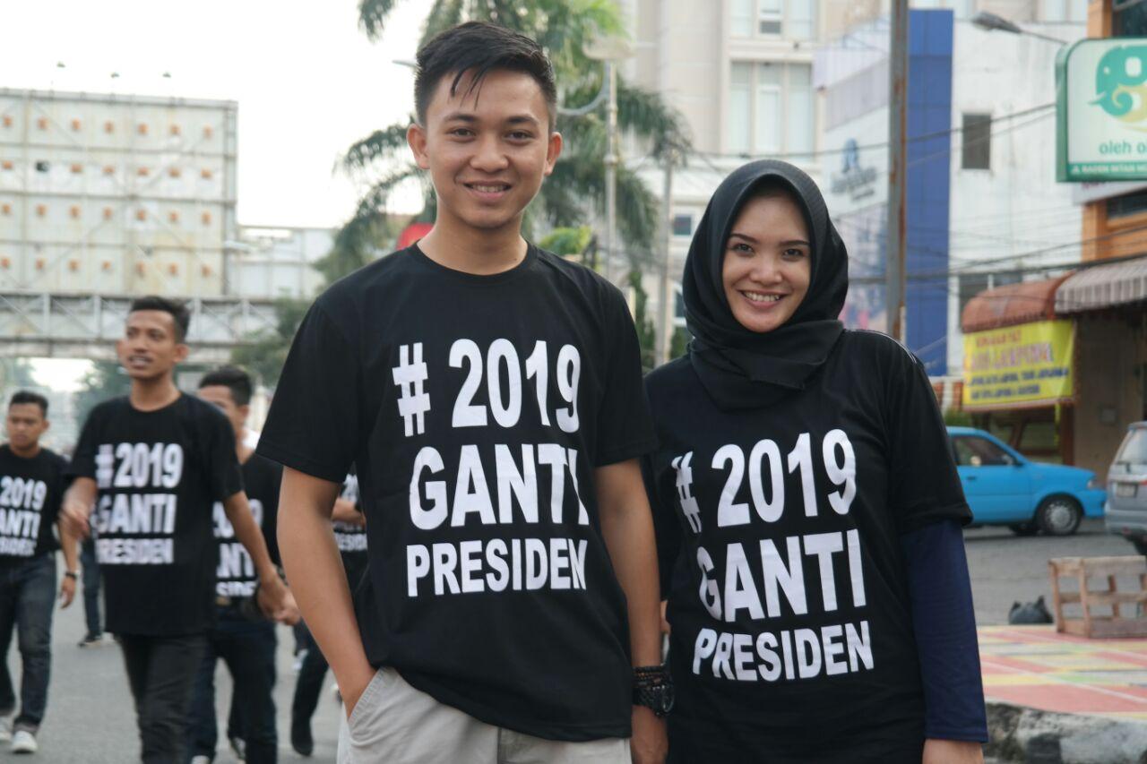 Kenakan Kaos #2019 Ganti Presiden, Patimura Nilai Sebagai Gerakan Masyarakat Bawah