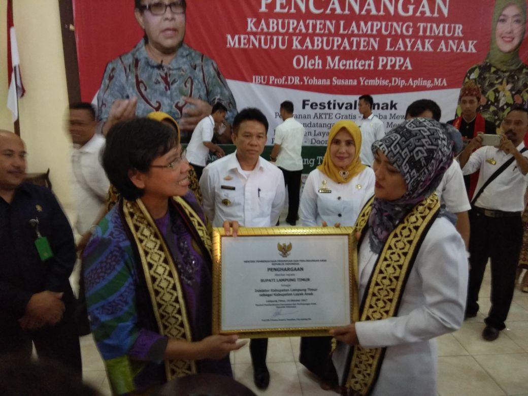 Lampung Timur Canangkan Menjadi Kabupaten Layak Anak