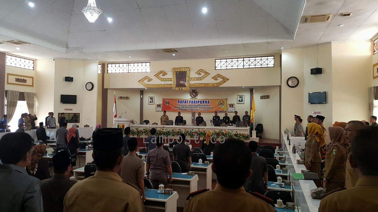 DPRD Tanggamus Gelar Paripurna Berakhirnya Masa Jabatan Bupati