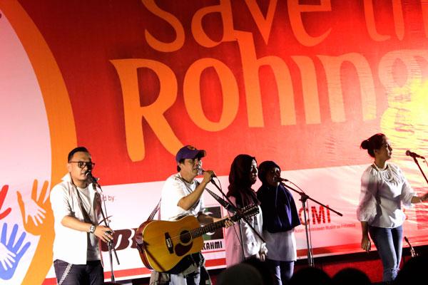 Konser Amal untuk Rohingya Berlangsung Meriah