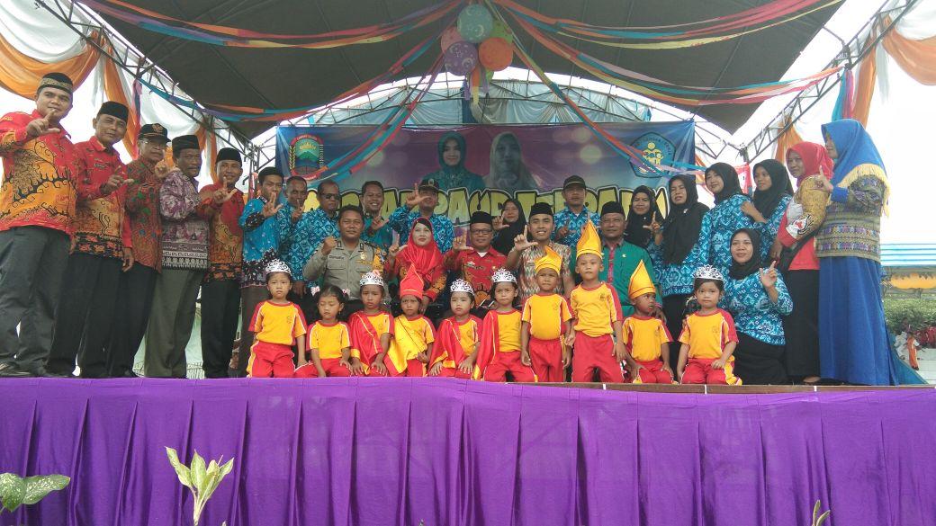 Ratusan Anak Usia Dini Semarakan Gebyar PAUD di Way Sulan