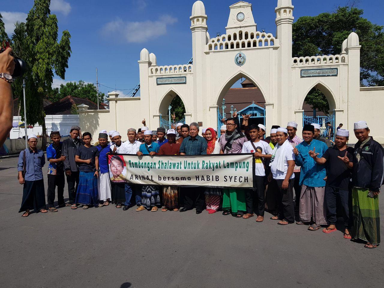 Rombongan Arinal Djunadi Sambangi Pondok Pesantren Habib Syech
