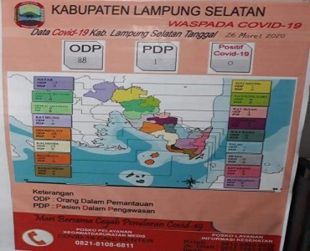 88 Orang di Lamsel Masuk ODP dan Satu PDP