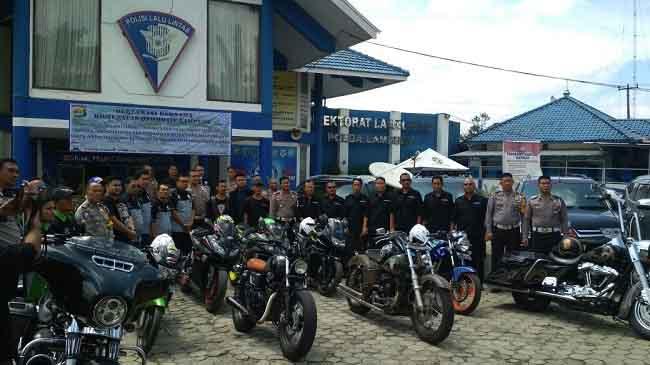Gandeng Klub Otomotif, Ditlantas Polda Lampung Cegah Hoaks