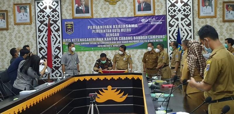 940 Kader Posyandu Kota Metro Terlindungi Jaminan Sosial Tenaga Kerja BPJamsostek