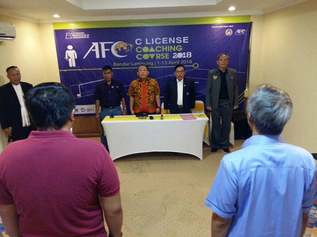 Pelatihan Pelatih AFC Licensi C Resmi Dibuka