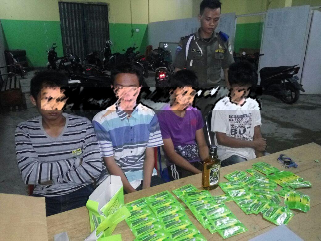 Satpol PP Pesisir Barat Amankan 6 Remaja dalam Razia Pekat