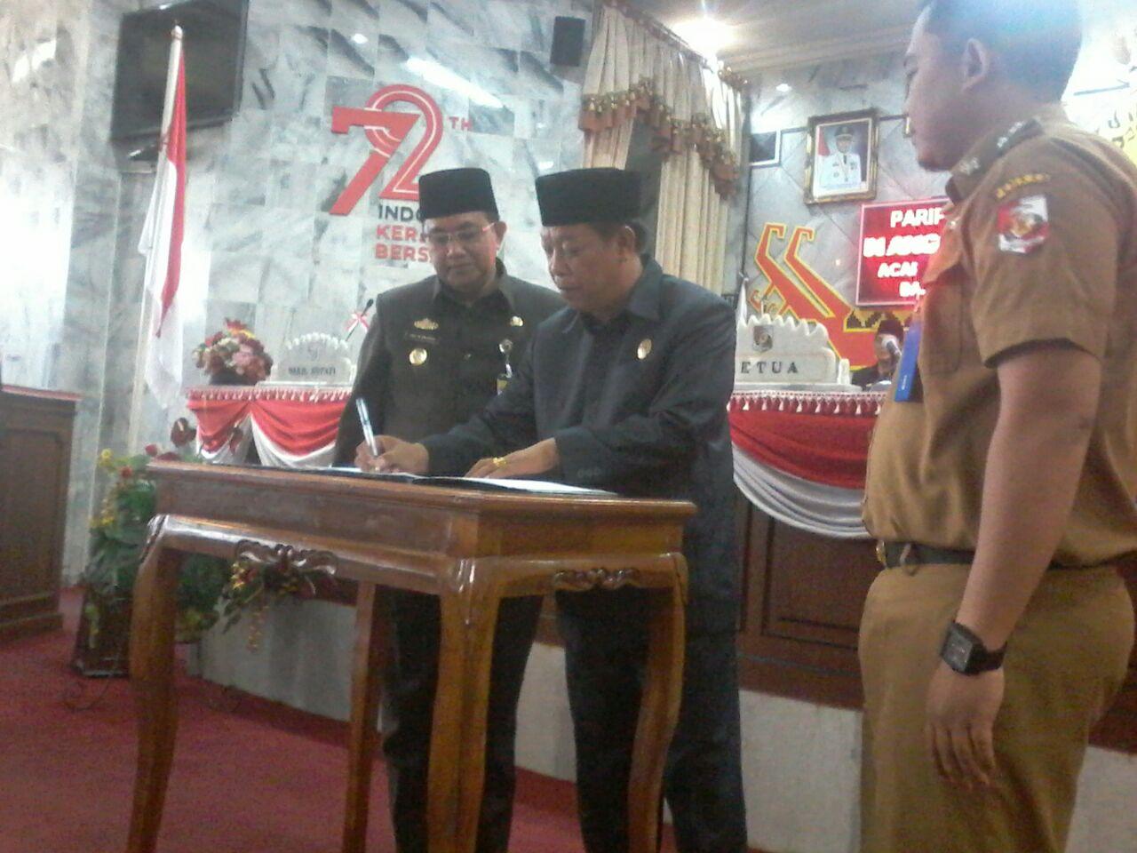 KUA-PPAS APBD Perubahan Lampung Utara Disetujui Dewan