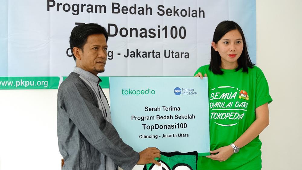 Tokopedia Resmikan Sekolah Renovasi dari Donasi Rp100