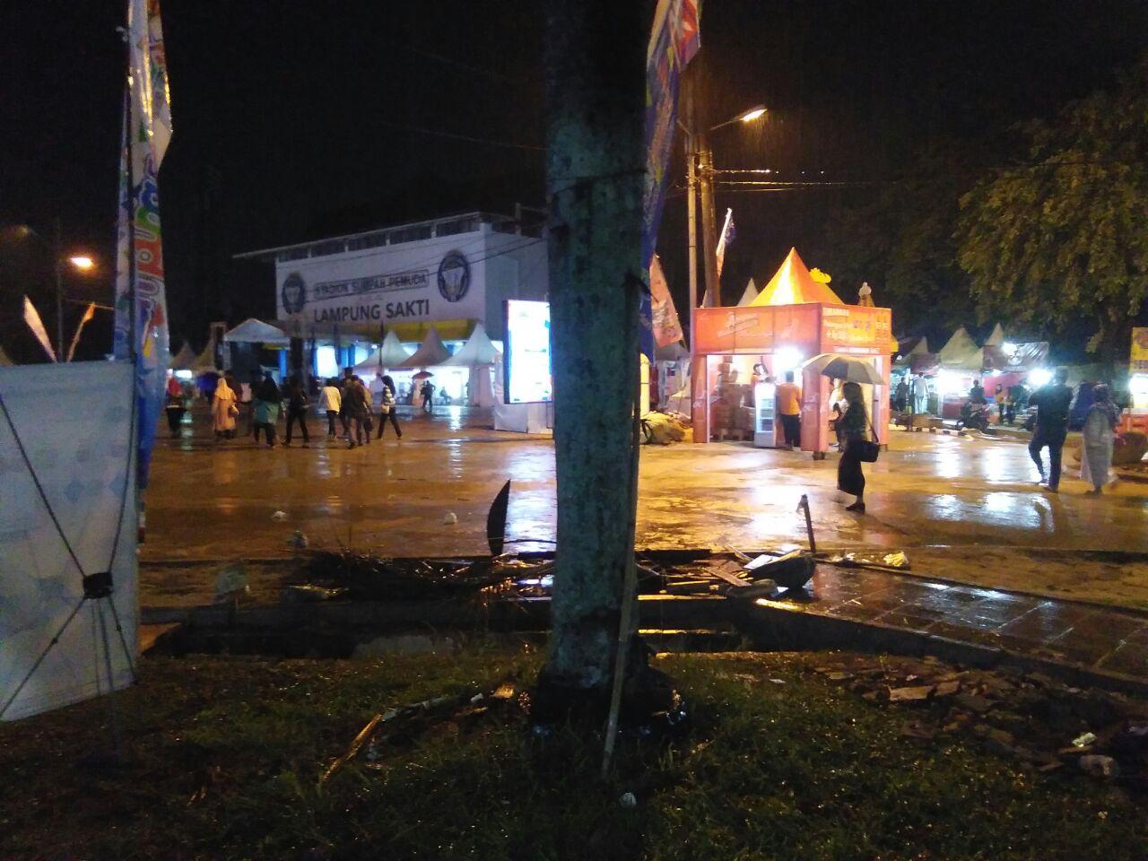 Diguyur Hujan Pembukaan Lampung Fair Sepi Pengunjung