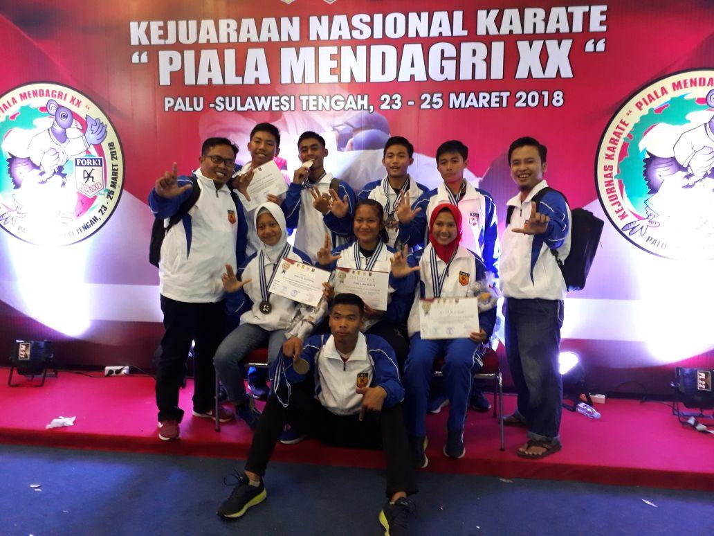 Karateka Lampung Raih 7 Medali di Piala Mendagri
