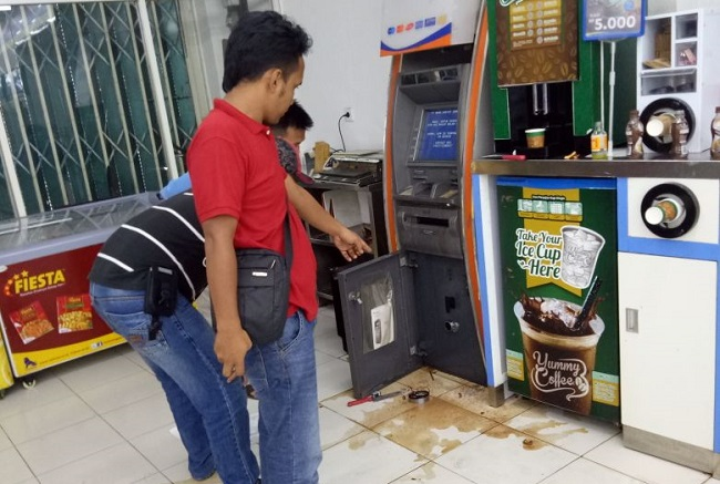 Pelaku Pembobolan ATM BRI di Indomaret Bukit Kemuning Ditangkap