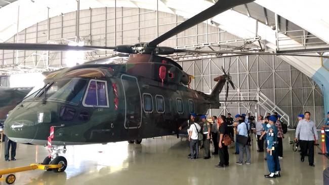 Penyidik KPK Cek Fisik Helikopter AW-101