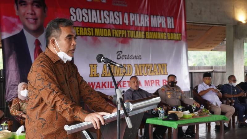 Ahmad Muzani Gelar Sosialisasi Empat Pilar Kebangsaan di Tubaba