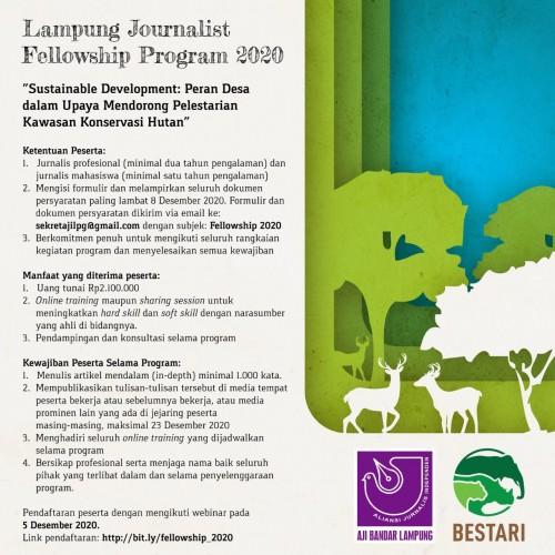 AJI Bandar Lampung-Bestari Beri Beasiswa Peliputan Konservasi Hutan