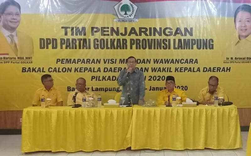Akbar Tandjung Pacu Golkar Lampung Hadapi Pilkada 2020