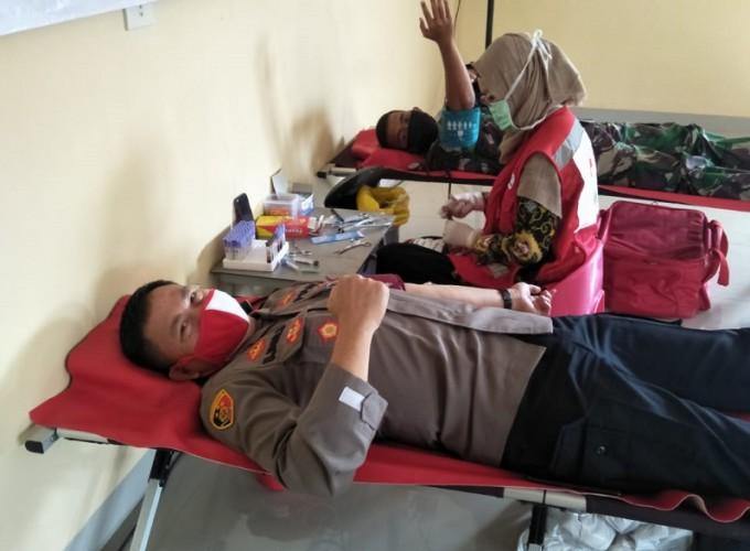 Aksi Donor Darah Polres Pesawaran Kumpulkan 82 Kantong