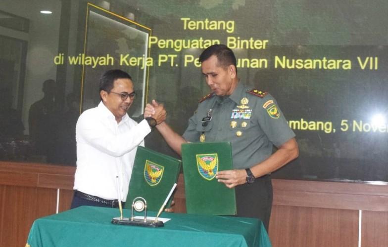 Amankan Aset, PTPN7-Kodam Sriwijaya Rancang Konsep Simultan