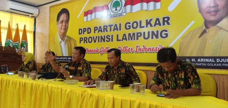 AMPG Minta Arinal Djunaidi Lanjutkan Pimpin Golkar Lampung