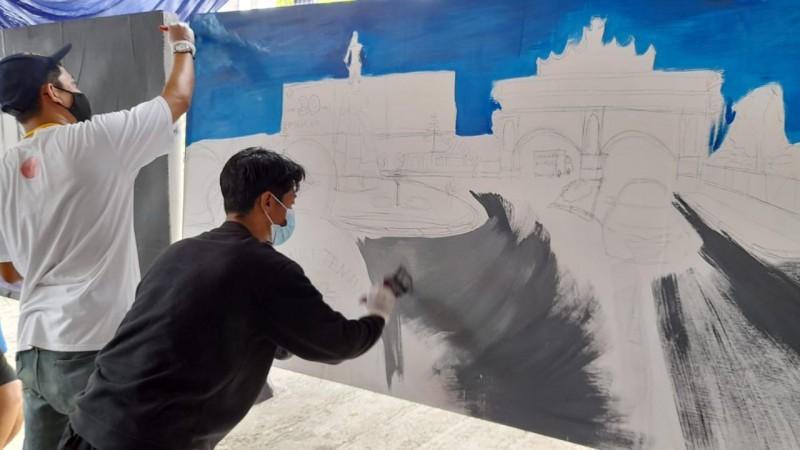 Anak Muda Lampung Edukasi Keselamatan Lalu Lintas lewat Mural