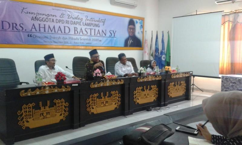 Anggota DPD Ahmad Bastian Kunjungi KPU Bandar Lampung