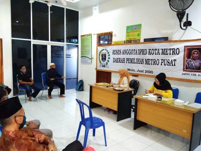 Anggota DPRD Kota Metro Serap Aspirasi di Tengah Pandemi