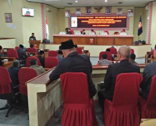 Anggota DPRD Lambar Pertanyakan Ketidakhadiran 2 Pimpinan