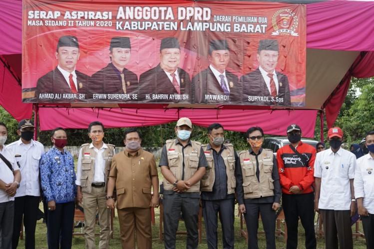Anggota DPRD Lambar Serap Aspirasi Masyarakat Tahap II
