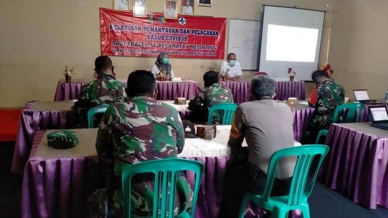Anggota TNI-Polri di Lamtim Mendapat Pelatihan Sebagai Petugas Tracer Covid-19