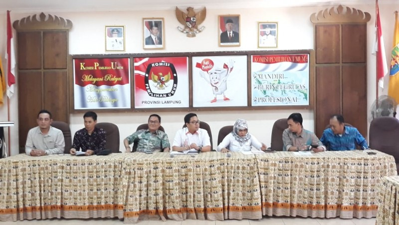 Anggotanya Bermasalah, KPU Lampung Ikuti Peraturan dan Perundangan