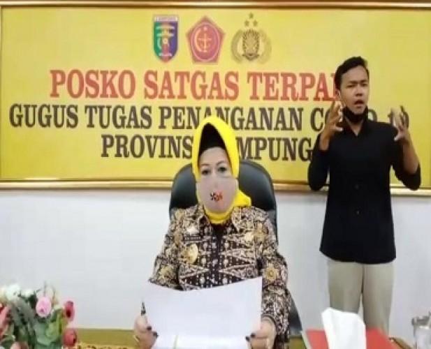 Angka Kesembuhan Covid-19 di Lampung Capai 91,46 Persen