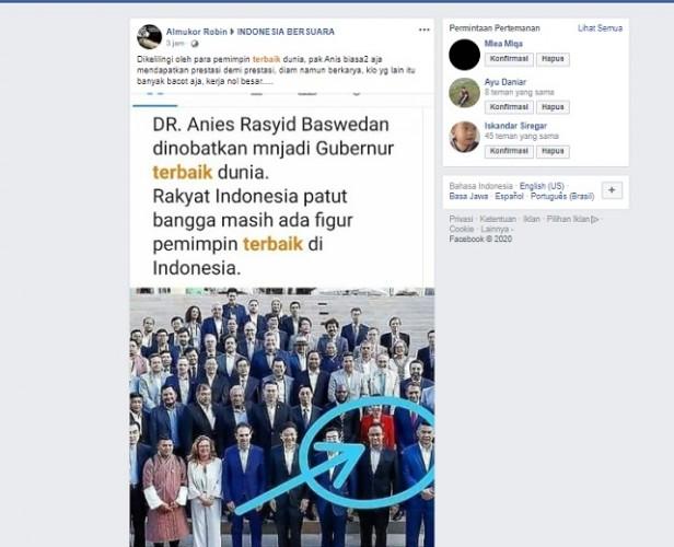 Anies Baswedan Dinobatkan sebagai Gubernur Terbaik di Dunia? Ini Faktanya