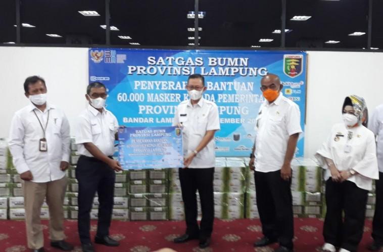 Antisipasi Nataru, Pemprov Lampung Dapat Bantuan 60 Ribu Masker