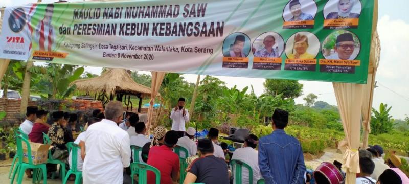 Antisipasi Resesi, KITA Banten Resmikan Kebun Kebangsaan