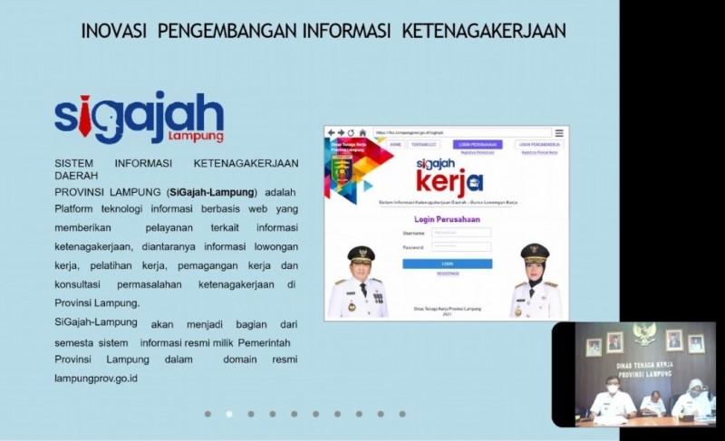Aplikasi <i>sigajah-Lampung</i> Entaskan Pengangguran lewat Jalur Digital