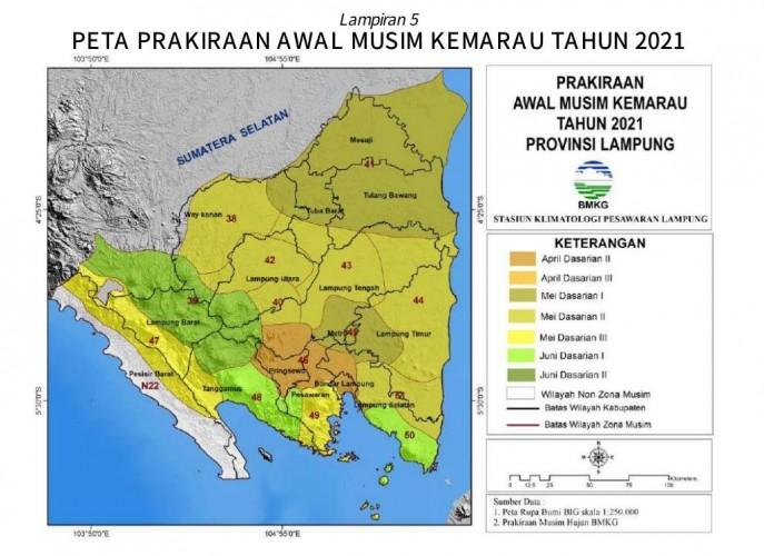 April, Lampung Masuk Musim Kemarau
