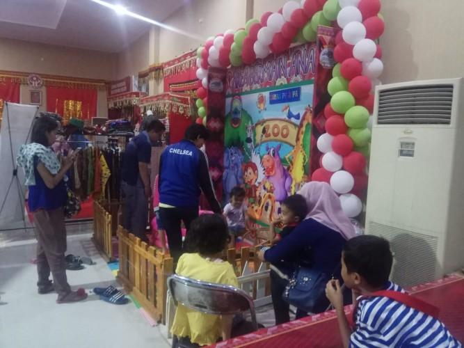 Arena Bermain Anjungan Lamsel di Lampung Fair Ramai Pengunjung