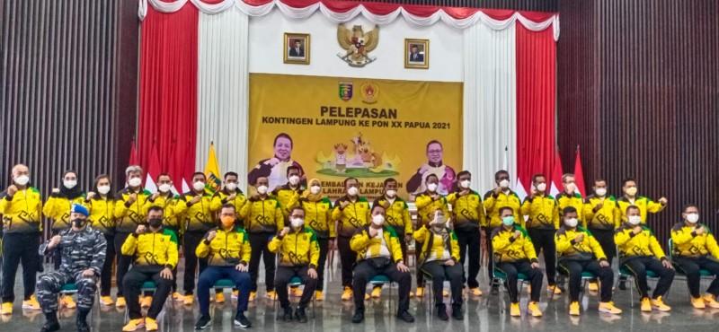 Arinal Semangati Atlet Lampung yang Berlaga pada PON XX Papua