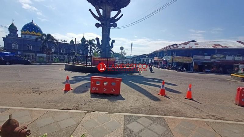 Arus Lalu Lintas di Lampung Barat Lengang