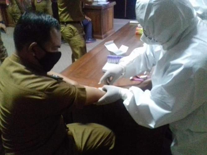 ASN Tubaba Jalani Rapid Test di Hari Pertama WFO
